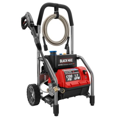 Black Max 1,700 PSI - Electric Pressure Washer.  Ends: Sep 19, 2014 6:00:00 AM CDT