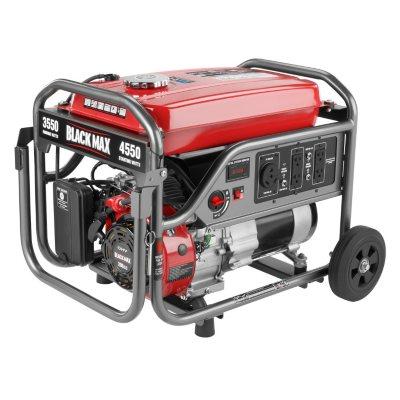 Black Max 3,550W / 4,375W Portable Gas Powered Generator.  Ends: Jun 29, 2016 6:00:00 PM CDT