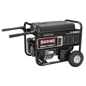 black max 6 800 watt portable gas powered generator with