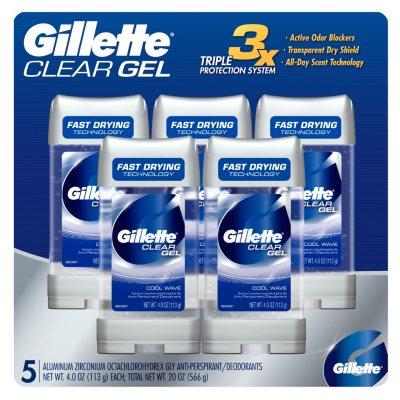 Gillette Clear Gel Coolwave Deodorant (4 oz., 5 pk.).  Ends: Jul 7, 2015 1:00:00 PM CDT
