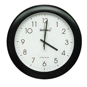 "SkyScan 14"" Analog Atomic Wall Clock"
