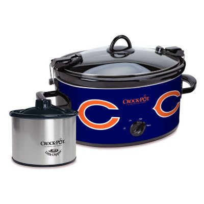 Crock Pot NFL 6-Quart Slow Cooker, Chicago Bears.  Ends: Nov 26, 2015 1:40:00 PM CST