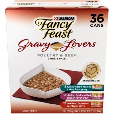 Fancy Feast Gravy Lovers Variety Pack, 36 pk..  Ends: Apr 18, 2015 10:25:00 PM CDT