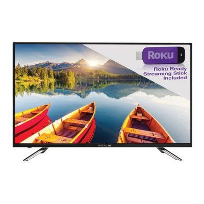 """Hitachi 50"""" Class 1080P LED HDTV with ROKU STREAMING STICK.  Ends: May 5, 2016 7:05:00 PM CDT"""