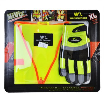 Wells Lamonty Vest and Glove Combo Pack - XLarge/Yellow
