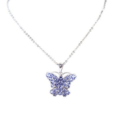 Tanzanite Butterfly Pendant in .925 Sterling Silver.  Ends: Aug 30, 2015 9:40:00 PM CDT