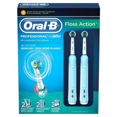 Oral-B Professional Rechargeable Toothbrush, Floss Action (2 pk.).  Ends: May 5, 2015 2:00:00 PM CDT