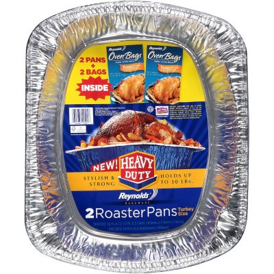Reynolds Bakeware Heavy Duty Turkey Size Roaster Pans - 2 ct..  Ends: Mar 10, 2014 1:15:00 AM CDT