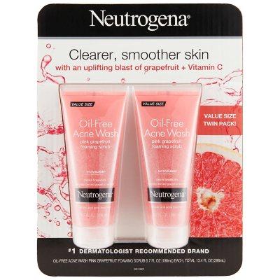Neutrogena Oil-Free Acne Wash Pink Grapefruit Foaming Scrub, (6.7 fl. oz., 2 pk.).  Ends: Dec 20, 2014 5:55:00 PM CST