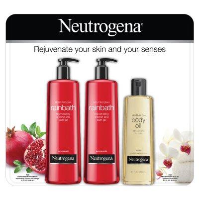 Neutrogena Rainbath and Body Oil Multi-Pack (2-16 fl. oz. and 1-8.5 fl. oz.).  Ends: Feb 1, 2015 2:40:00 PM CST