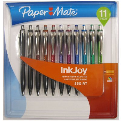 Paper Mate InkJoy Retractable Ballpoint Pen, Assorted Colors (11 ct., 1.0mm)