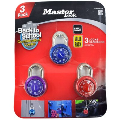 Master Lock Color Combination Locks (3 Pk.)