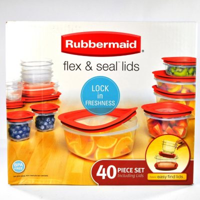 Rubbermaid Flex & Seal 40-Piece Food Storage Set.  Ends: Oct 2, 2014 8:20:00 AM CDT