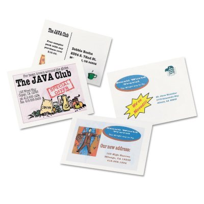 Avery 8577 Postcards/Index Cards, Inkjet, White (400 Cards).  Ends: Oct 21, 2014 8:15:00 PM CDT