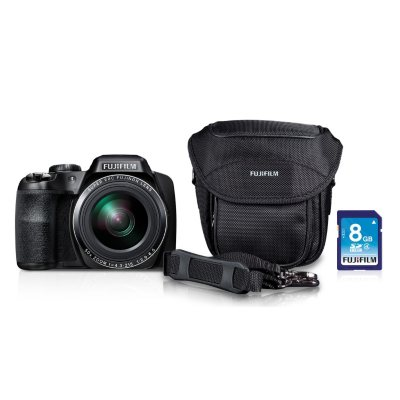 Fuji FinePix S9200 16.2MP CMOS Bundle with 50x Optical Zoom, Camera Case, and 8GB SD Card, Black.  Ends: Mar 31, 2015 2:00:00 AM CDT