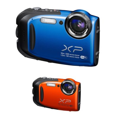 FUJIFILM FinePix XP70 16.4MP CMOS Waterproof Camera with 5x Optical Zoom, Blue.  Ends: Jan 26, 2015 8:30:00 AM CST