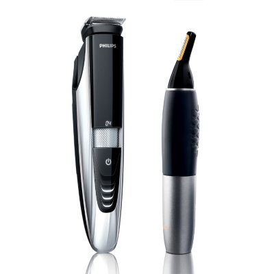 Philips Norelco Laser-Guided Beard Trimmer with Nose Trimmer and Case, Model: 9000 Series.  Ends: Aug 23, 2014 2:40:00 PM CDT