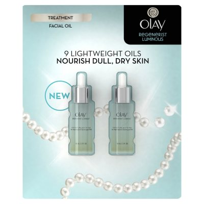 Olay Regenerist Luminous Facial Oil (1.3 fl. oz., 2 pk.).  Ends: Jan 31, 2015 12:10:00 AM CST