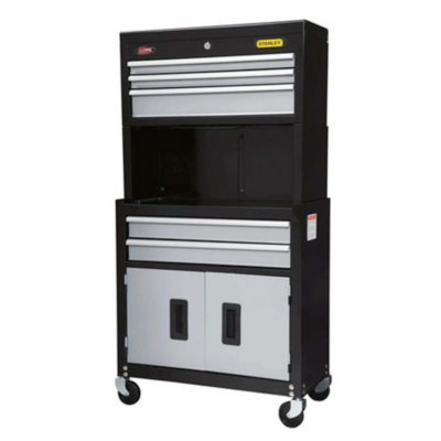 Stanley 5-Drawer Metal Tool Chest & Cabinet with 85 Piece Socket Set, Black.  Ends: Sep 2, 2014 9:00:00 AM CDT