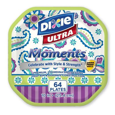Dixie Ultra Moments 10-inch Paper Plates, Family Fun (64 ct.).  Ends: Oct 25, 2014 6:35:00 AM CDT