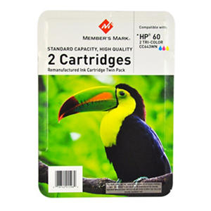Member's Mark Ink Cartridge: Compatible with HP 60 COLOR