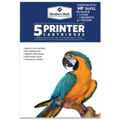Member's Mark Remanufactured HP 564XL, Color, ( 5 pk. Page Yield 550 to 750).  Ends: Apr 30, 2016 8:06:00 AM CDT