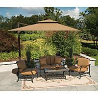 Member's Mark® 10' Square Cantilever Umbrella with Premium Sunbrella® Fabric - Beige