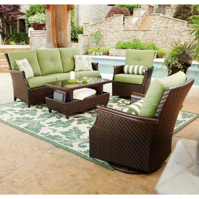 Member's Mark Carnaby Deep Seating Set with Premium Sunbrella Fabric, 4-Pc..  Ends: May 27, 2016 6:00:00 PM CDT