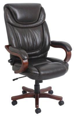 Member's Mark Leather Executive Chair, Brown.  Ends: May 30, 2015 4:50:00 PM CDT