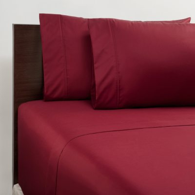 Member's Mark 450-Thread-Count Twin Sheet Set - Red