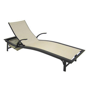 Aluminum sling chaise lounge auctions for Aluminum sling chaise lounge