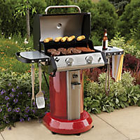 "Member's Mark 24"" 2-Burner Patio Gas Grill, Red"