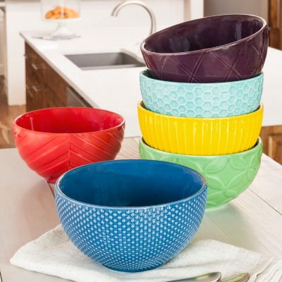 Daily Chef Textured Cereal Bowls (6 Pack).  Ends: Oct 9, 2015 8:30:00 PM CDT