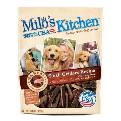Milo's Kitchen Steak Grillers Beef Recipe with Angus Steak Dog Treats, 30 oz..  Ends: Nov 25, 2014 1:20:00 AM CST