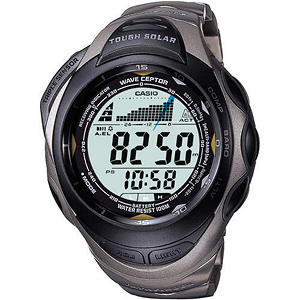 Casio Atomic Solar Pathfinder Watch - Silver