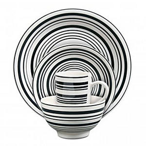 Isaac Mizrahi Vertigo Bands 16 pc. Dinnerware Set