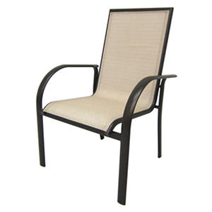 Aluminum Sling Stack Chair - Tan
