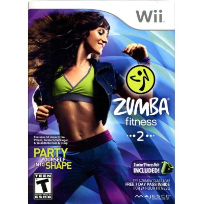 Wii - Zumba Fitness 2 Video Game.  Ends: Oct 25, 2014 6:40:00 AM CDT