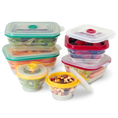 Collapse-it Food Storage & Cooking Containers  (12-Pack).  Ends: Aug 30, 2015 9:34:00 PM CDT
