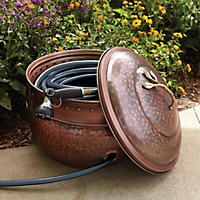 Handcrafted Metal Hose Bowl with Lid