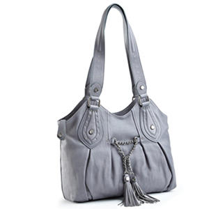 Allison Scott Leather Vivian Tote - Denim