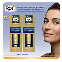 RoC Deep Wrinkle Night Cream (1 fl. oz., 2 pk.) w/ Bonus Jar