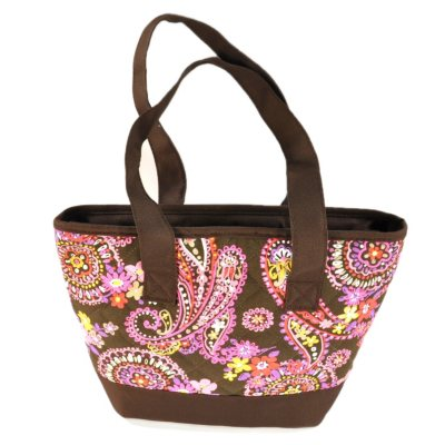 Fresh & Fit Quilted Lunch Tote with 2 pc. Food Storage, Brown Spring Paisley.  Ends: Nov 26, 2014 7:30:00 PM CST