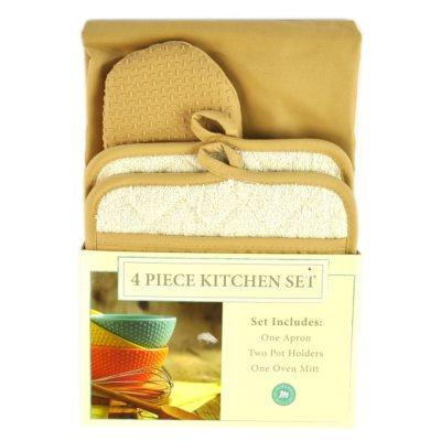 Morgan Collection 4 pc. Kitchen Set, Tan.  Ends: Oct 24, 2014 7:55:00 AM CDT