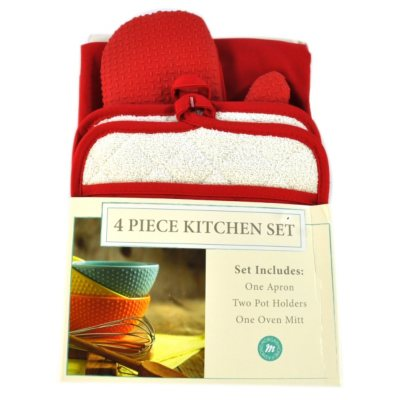 Morgan Collection 4 pc. Kitchen Set, Red.  Ends: Oct 31, 2014 9:55:00 AM CDT