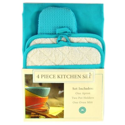 Morgan Collection 4 pc. Kitchen Set, Teal.  Ends: Oct 31, 2014 7:50:00 AM CDT