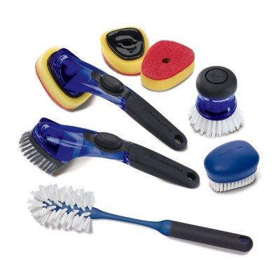 KitchenAid 7-Piece Sink Brush Set, Blue.  Ends: Mar 31, 2015 1:15:00 PM CDT