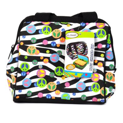Fit & Fresh Kids Bag & Lunch Set, Zebra Peace.  Ends: Jul 23, 2014 5:20:00 AM CDT
