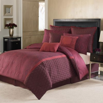 Nicole Miller Comforter Set (9 pc. set) - Red.  Ends: Mar 6, 2015 2:06:00 PM CST