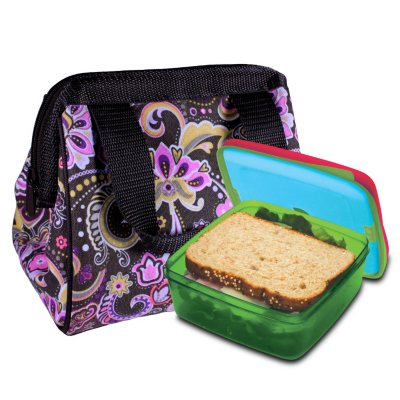 Fit & Fresh Kids Bag & Lunch Set, Paisley